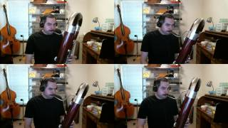 "Jonathan Coulton's ""When You Go"" - contrabassoon quartet"