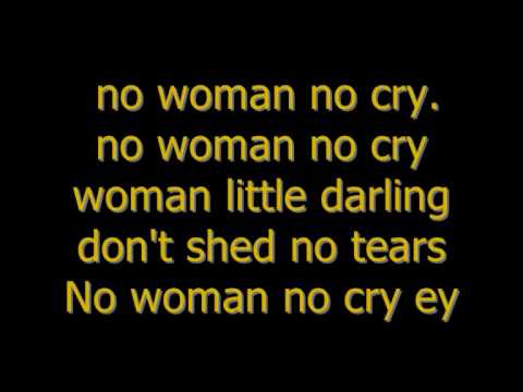 Bob Marley - no woman no cry (Lyrics)