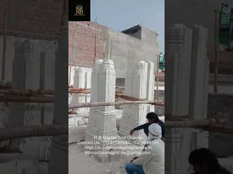 Running Work White Marble Temple Constructions