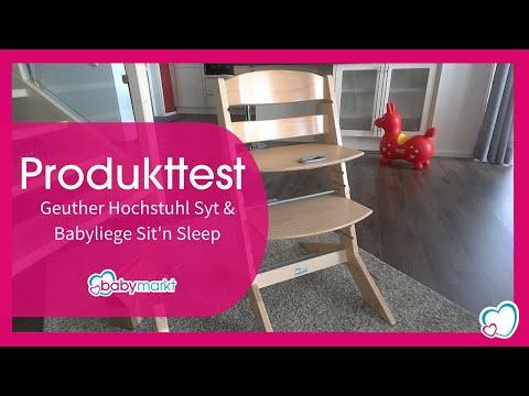 Geuther Hochstuhl Syt & Babyliege Sit'n Sleep