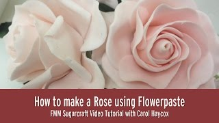 How to Make a Rose Using Flowerpaste