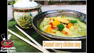 Thai Coconut Curry Chicken Soup | Crock Pot Recipe