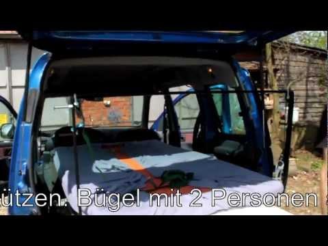 Minicamper Citroen Berlingo Einbau Bett Umbau zum Camper Schlafen im Auto