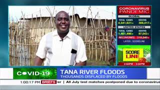 Tana River Floods: Thousands displaced by floods as several areas rendered inaccessible by road