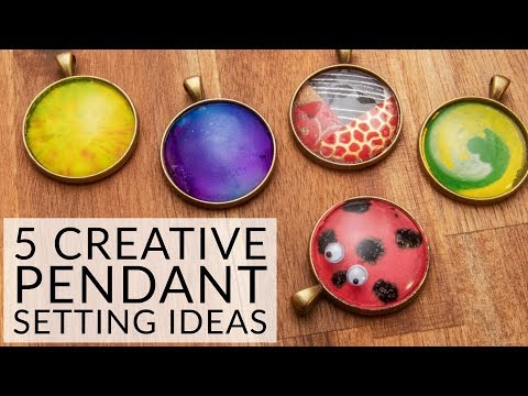 5 Creative Ways to Decorate a Cabochon Pendant -   Jewellery Making for Students