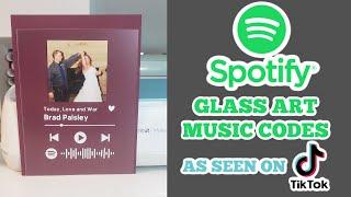 Spotify glass artwork with Cricut - Easy beginner tutorial Spotify code frame from TikTok trending
