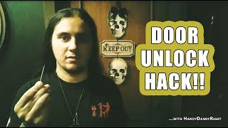Unlock a Door with a Toothpick (Handy Dandy)