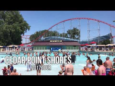 Cedar Point Shores Water Park Tour- New Park For 2017 (видео)