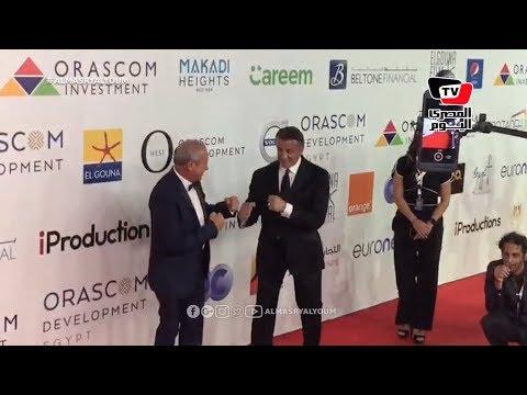 سيلفستر ستالون ونجيب ساويرس يتصارعان علي الريد كاربت في ختام «الجونة» السينمائي