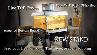 Ultimate Bee Hive Top Feeder, Stand, Robbing Screen, Bottom Board Pest Management