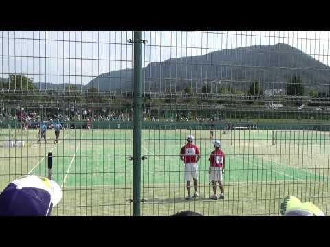 14 全国中学校ソフトテニス大会 男子準決勝 1-3
