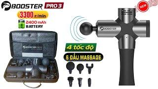 Review súng massage gun Booster Pro 3 hàng xách tay dòng cao cấp của Mỹ