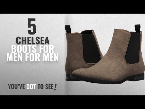 Top 10 Chelsea Boots For Men [ Winter 2018 ]: GUESS Men's Obrien Tan 9 M US