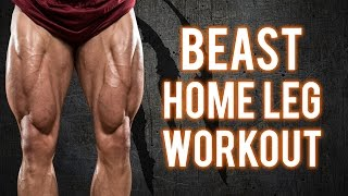 Brutal Home Leg Workout | Build BEASTLY Legs With This Workout -PT.1 (NO EQUIPMENT -BodyWeight ONLY) by BarbarianBody