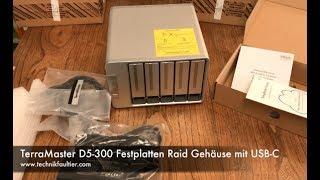 TerraMaster D5-300 Festplatten Raid Gehäuse mit USB-C