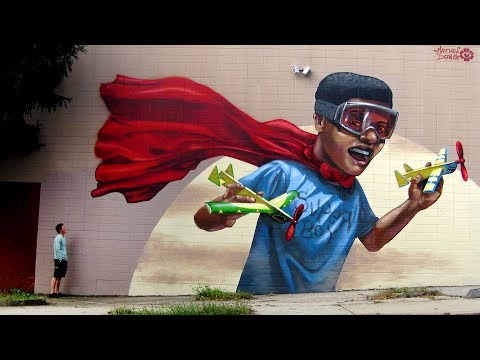 street art mural tutorial by kiptoe