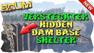 SCUM - STAUDAMM SHELTER - Hidden Dam Base - Scum Guide Gameplay