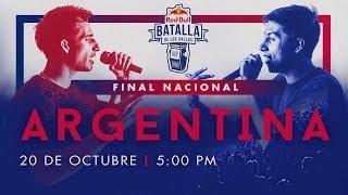 Final Nacional Argentina en vivo   Red Bull Batalla de los Gallos