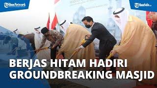 Pakai Setelan Jas Hitam, Begini Harapan Gibran saat Hadiri Ground Breaking Masjid Raya Sheikh Zayed