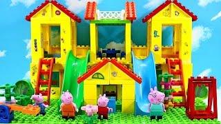 Peppa Pig Blocks Mega House Construction Set With Water Slide Lego Building #4