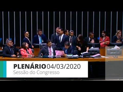 Sessão do Congresso Nacional - Discussão e votação de vetos | 04/03/20