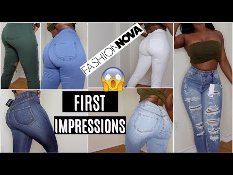 I TRIED FASHION NOVA JEANS FOR THE FIRST TIME!    PERFECT JEANS FOR SLIM THICK GIRLS OR NAH?!
