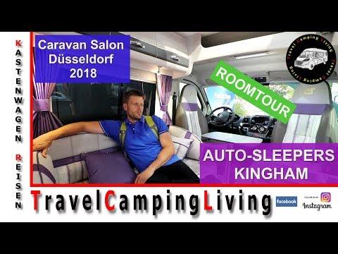 Auto-Sleepers, Kingham Roomtour, Caravan Salon Düsseldorf 2018, Sofa und Oven im Kastenwagen