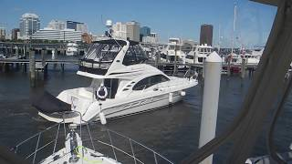 Sea Ray docking in high winds