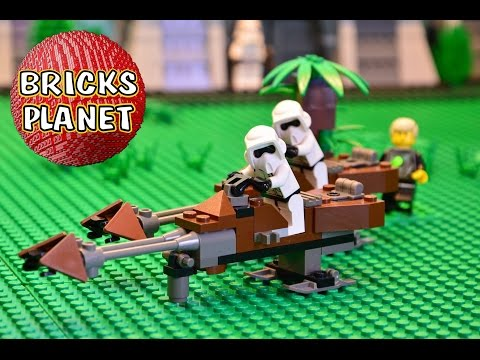 Speeder Bikes 7128 LEGO Star Wars from 1999 ! Stop motion review