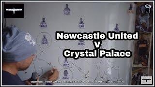 Tactics board   Newcastle United v Crystal Palace