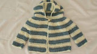 How To Crochet An EASY Children's Sweater / Hoodie / Jacket