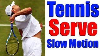 Tennis Serve In Slow Motion | Kick Serve | Slice Serve | Flat Serve