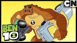 Enormesaurio contra Simon | Bloqueo De Tránsito | Ben 10 en Español Latino | Cartoon Network