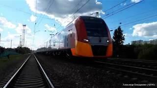 "Электропоезд ЭС1 ""Ласточка"" на перегоне"
