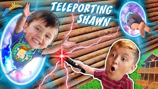 TELEPORTING SHAWN! Magic Mountain Cabin House (FUNnel Fam Magic Vision)