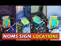 *ALL* NOMS SIGN LETTER LOCATIONS! Fortnite Search Letters Pleasant Park, Dusty Divot, Wailing Woods