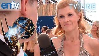 Interview de Connie Britton - Emmys 2012