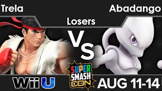 SSC16  - PG | Trela (Ryu) vs Abadango (Mewtwo) Losers - Smash 4