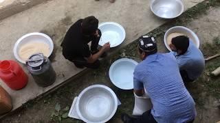 Как готовят плов в Таджикистане. Как едят плов