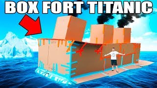 BOX FORT TITANIC!! 📦🚢  FLOATING BOX FORT CHALLENGE