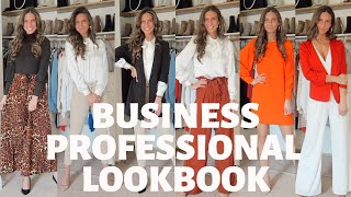 BUSINESS CASUAL/PROFESSIONAL LOOKBOOK: Work And Interview Outfits