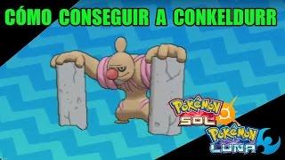 Timburr  - (Pokémon) - Tutorial cómo conseguir a CONKELDURR (escáner insular) - Guía pokémon Sol y Luna