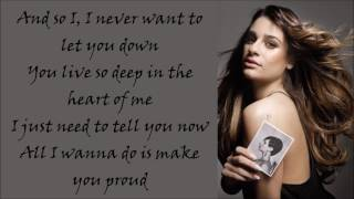 Lea Michele ~ Proud ~ Lyrics