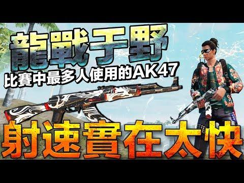 [我要活下去]比賽最多人使用的AK47塗裝龍戰
