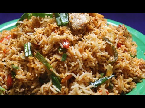 Schezwan Chicken Fried Rice with Homemade Sichuan Sauce English Recipe CountNCook