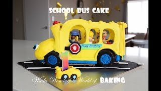 Toy school bus birthday cake/ Monica Wada/ Wada Wonderful World of Baking
