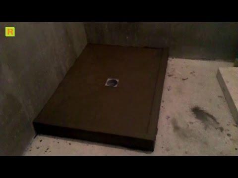 Подиум монолит для душ кабины на стройке