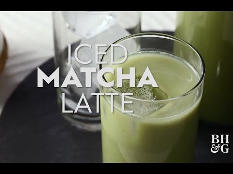 Matcha Green Tea Latte  | Drinks | Better Homes & Gardens
