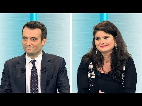 Florian Philippot et Hélène Thouy
