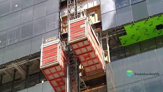 Watch the video - Construction Minute: Skip Hoist - Essentia Health